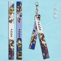 Touken Ranbu Flying Strap with keychain & little bell
