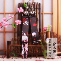 Tokyo Ghoul Flying Strap with keychain & little bell