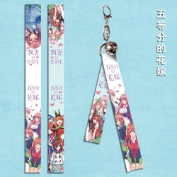 The Quintessential Quintuplets Flying Strap with keychain & little bell A
