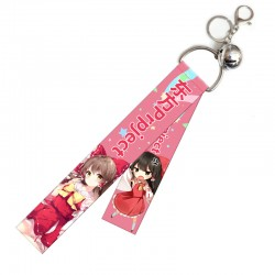 Touhou Project Flying Strap with keychain & little bell