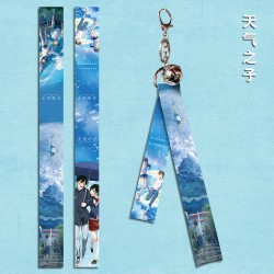 Weathering with You Flying Strap with keychain & little bell
