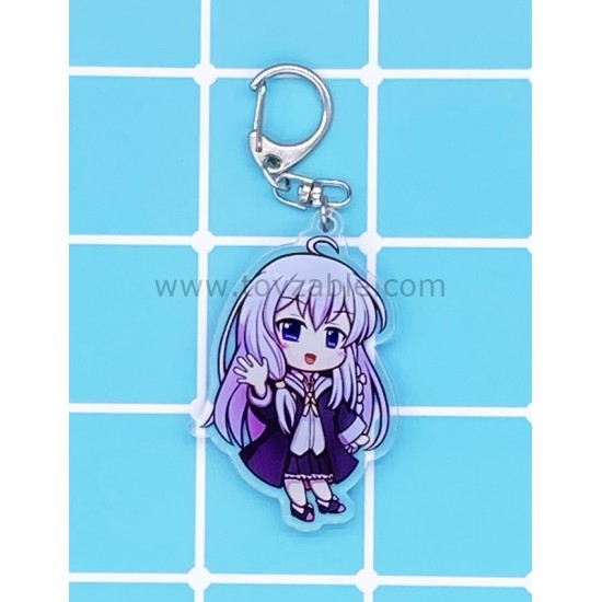 Wandering Witch: The Journey of Elain Acrylic Keychain B