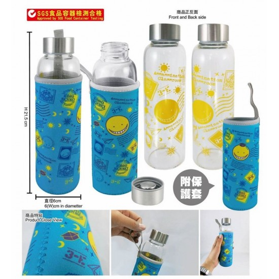 Glass Water Bottle with Sleeve-Assassination Classroom A