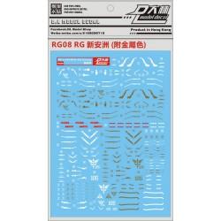 DL RG 1/144 Sinanju Water Decal