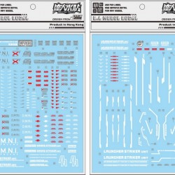 DL PG 1/60 Perfect Strike Gundam Water Decal