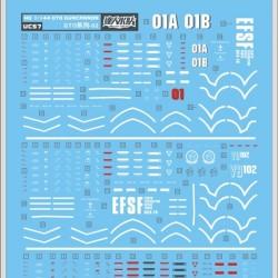 DL HG 1/144 Gundam The Origin Ver. Guncannon Water Decal