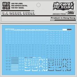 DL Gundam FW Converge Trading Figure Water Decal