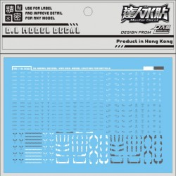 DL Gundam FW Converge Trading Figure Water Decal