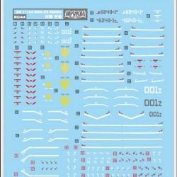 DL RG 1/144 MSN-02 Zeong Water Decal