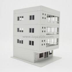 1/100 Building (White) (L11*W10*H13.5cm)