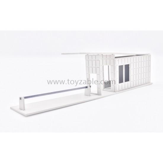 1/87 Building - Guard House(White) (L19*H4.6cm)