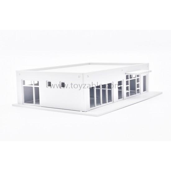 1/87 Building - Mini Mart (White) (L18.4*W14*H4.5cm)