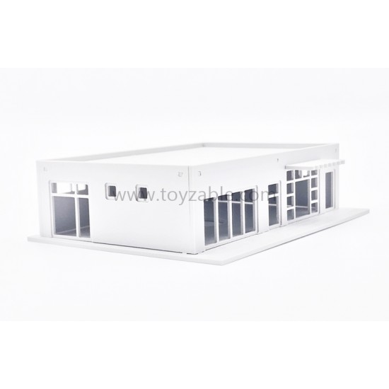 1/150 Building - Mini Mart (White) (L10.7*W8*H2.7cm)