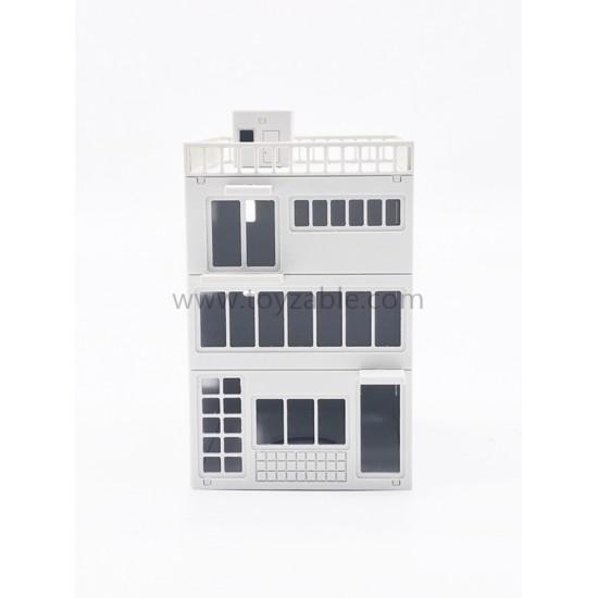 1/87 Building - ShopLot (White) (L8*W10.3*H13cm)