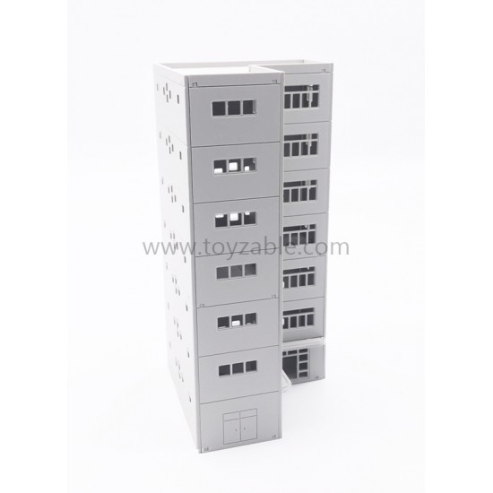 1/87 Building - Apartment (White) (L13.2*W12*H25.3cm)