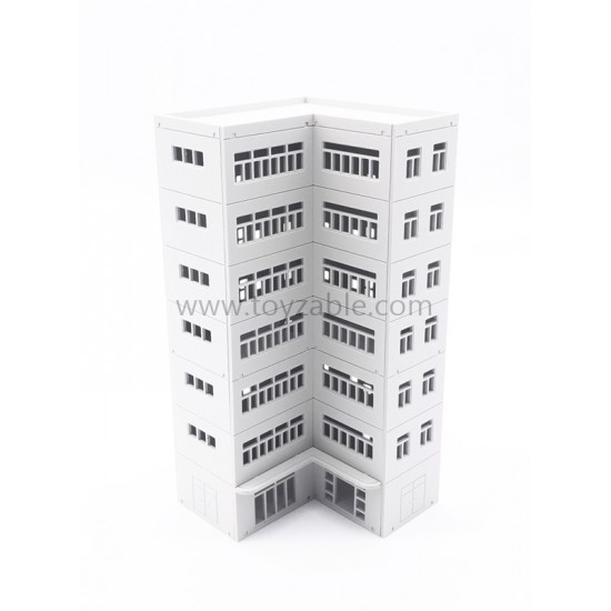 1/150 Building - Apartment (White) (L7*W7*H14.6cm)
