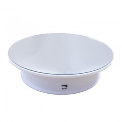 USB Type Rotating Display Stand White Color - for item up to 3kg (with mirror)