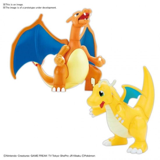 Pokepla Pokemon 43 Charizard Battle Ver & Dragonite vs Set