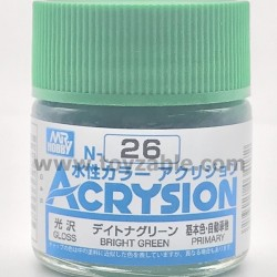 Mr Hobby Acrysion Color N26 Gloss Bright Green