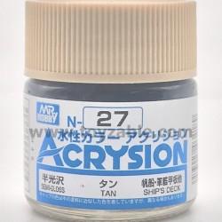 Mr Hobby Acrysion Color N27 Semi Gloss Tan