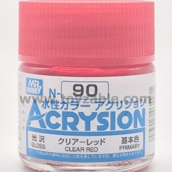 Mr Hobby Acrysion Color N90 Gloss Clear Red