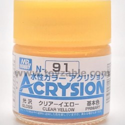 Mr Hobby Acrysion Color N91 Gloss Clear Yellow