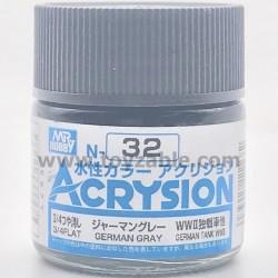 Mr Hobby Acrysion Color N32 3/4 Flat German Gray