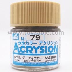 Mr Hobby Acrysion Color N79 3/4 Flat Dark Yellow