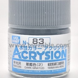Mr Hobby Acrysion Color N83 Semi Gloss Dark Gray (2)