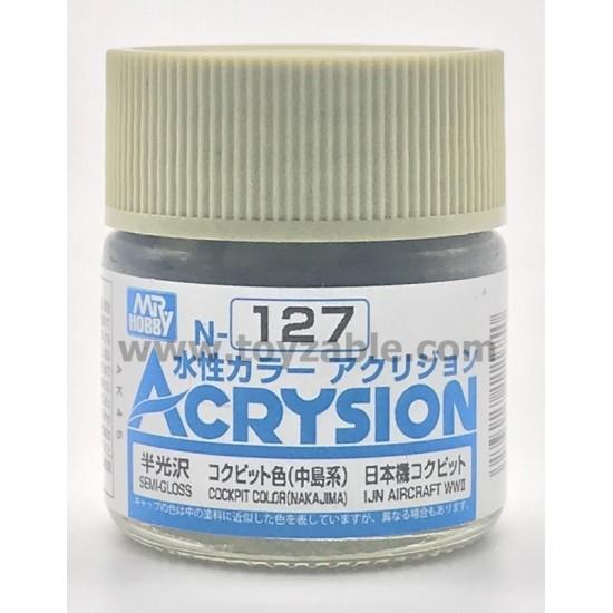 Mr Hobby Acrysion Color N127 Semi Gloss Cockpit Color (Nakajima)