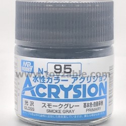 Mr Hobby Acrysion Color N95 Gloss Smoke Gray