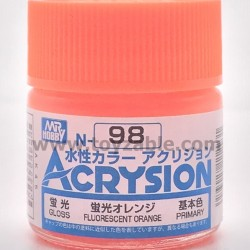 Mr Hobby Acrysion Color N98 Gloss Fluorescent Orange