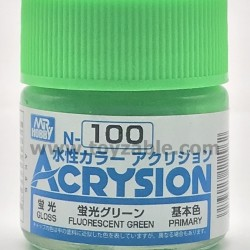 Mr Hobby Acrysion Color N100 Gloss Fluorescent Green
