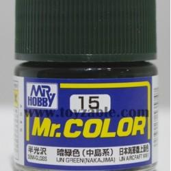Mr.Hobby Mr.Color C-15 Semi Gloss IJN Green (Nakajima)