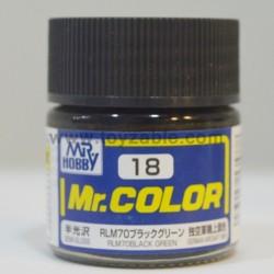 Mr.Hobby Mr.Color C-18 Semi Gloss RLM70 Black Green