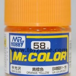 Mr.Hobby Mr.Color C-58 Semi Gloss Orange Yellow