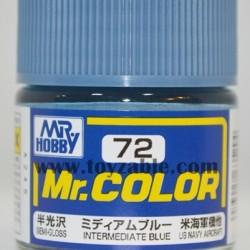 Mr.Hobby Mr.Color C-72 Semi Gloss Intermediate blue