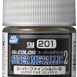 Mr.Hobby Mr.Color SM201 Super Metallic 2 Super Fine Silver 2