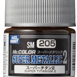 Mr.Hobby Mr.Color SM205 Super Metallic 2 Super Titanium 2