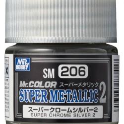 Mr.Hobby Mr.Color SM206 Super Metallic 2 Super Chrome Silver 2