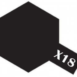 Tamiya Acrylic Paint X-18 Semi Gloss Black