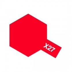 Tamiya Enamel Paint X-27 Clear Red