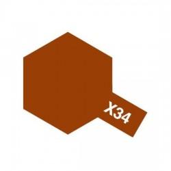 Tamiya Enamel Paint X-34 Metallic Brown