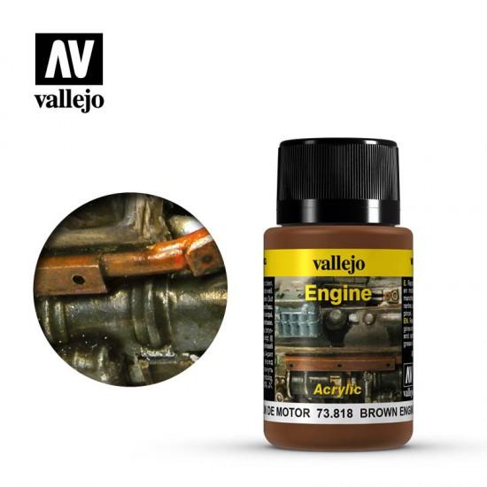 AV Vallejo Weathering Effect - BROWN ENGINE SOOT 40ml