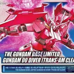 HGBD 1/144 Gundam OO Diver Trans-am Clear (The Gundam Base Limited)