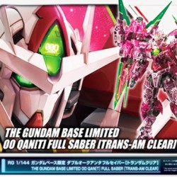 RG 1/144 OO Qan(T) Full Saber Trans-am Clear (The Gundam Base Limited)