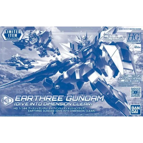 Bandai HG 1/144 Earthree Gundam (Dive into Dimension Color)
