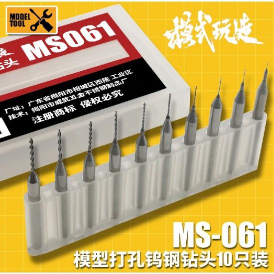 Moshi Hand Drill Head 2.1-3.0mm 10pcs set