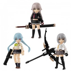 [PreOrder] MEGAHOUSE DESKTOP ARMY - HEAVY WEAPON HIGH SCHOOL GIRL TEAM 1 (Re-issue) (set of 3)