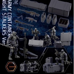 [PreOrder] Kotobukiya Kit Block Hexa Gear Army Container Set Night Stalkers Ver.
